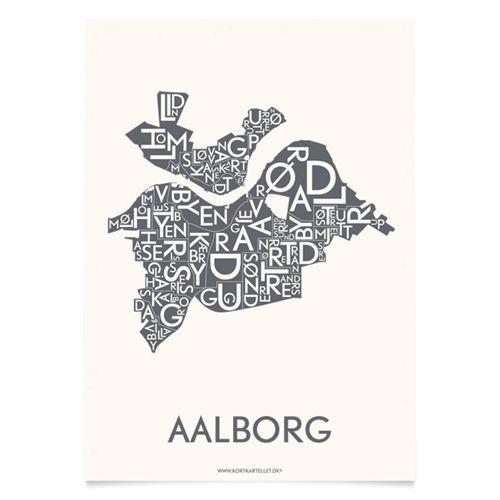 Plakat over Aalborg - Kortkartellet