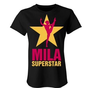 Mila. Superstar  | An absolutely lovely gymnastics t-shirt. Beautiful colours and quality is number one.