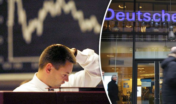 WORLD ECONOMY FEARS: US stock markets SLUMP after Deutsche Bank hits all-time low  FEARS over whether the world economy will be hit by another financial crash grew after US stock markets slumped after Deutsche Bank share prices took a battering.  By ZOIE O'BRIEN PUBLISHED: 22:17, Thu, Sep 29, 2016