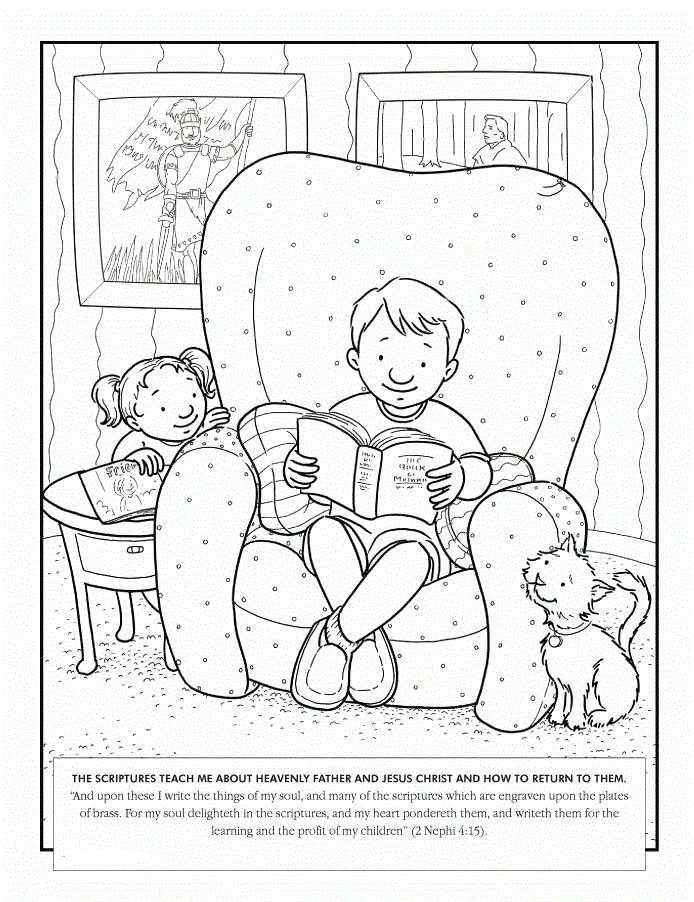 Latter Day Saints (LDS) Coloring Pages | Lds coloring ...
