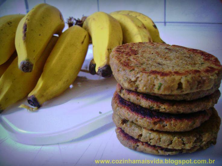 Cozinha MAISVIDA: Hambúrguer de casca de banana