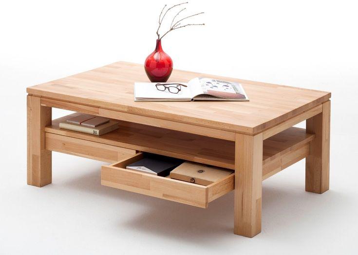 Couchtisch Holz Gordons Wohnzimmertisch Kernbuche Mit Schubladen 5798