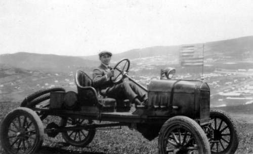 Mark Moody driving a Ford in the hills near Vladivostok. http://digitallibrary.usc.edu/cdm/ref/collection/p15799coll46/id/195