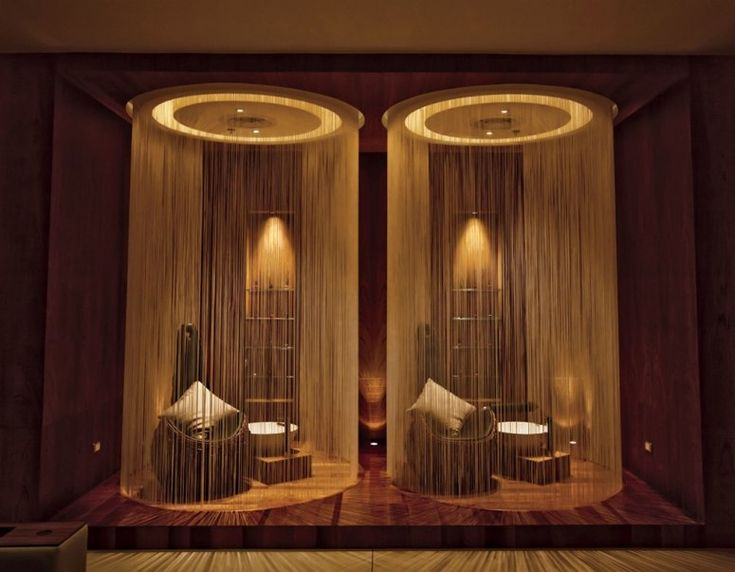 The foot massage area at the W Koh Samui, Thailand, where the decor is Southeast Asia meets space age.