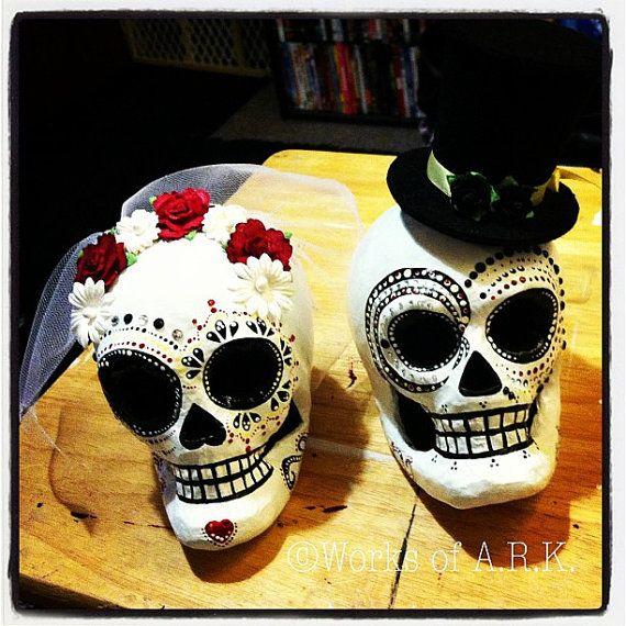 Dia De Los Muertos Sugar Skull Wedding by WorksofArk on Etsy, $70.00