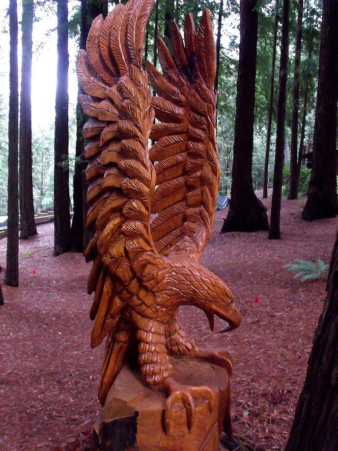 Ft eagle by glen sievert sculptures chain saw art