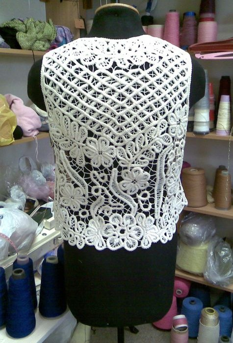 Romanian Point Lace crochet vest