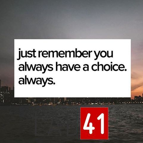 """""""Just remember you always have a choice. Always"""". We'd love to hear your thoughts in the comments... . . . . . . . . . . #entrepreneur #work #quotes #quote #influence #goals #inspiration #startup #lifestyle #picoftheday #wisdom #photooftheday #motivation #instapic #instagood #motivational #succeed #hustle #grind #success #determination #businessowner #businesswoman #quoteoftheday #entrepreneurlife #dedication #boss #attitude #positive #confidence"""