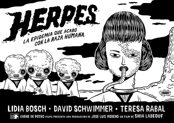 Herpes by Ana Galvan, via Behance Ana Galvañ www.anagalvan.com