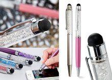 Praktikus és vidám kristályos toll 5 színben érintőceruza-funkcióval