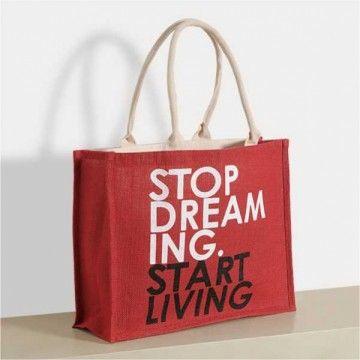 Carmine Zora Jute Shopping Bag- 605
