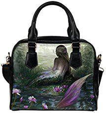 mermaidhomedecor - Mermaid PU Leather Shoulder Tote Bag $36.58