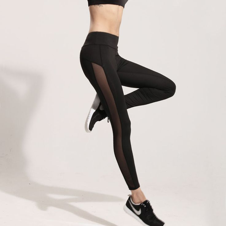 Sports tights Women Quick-Drying Breathable Women Sexy Running Pants Net Yarn Buttocks Sports Leggings Fitness