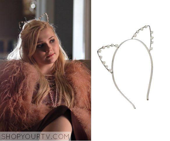 Scream Queens: Season 1 Episode 10 Chanel #5 Pearl Cat Ear Headband