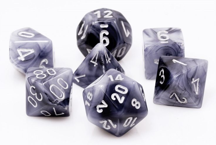 Phantom Dice (Black) | RPG Role Playing Game Dice Set