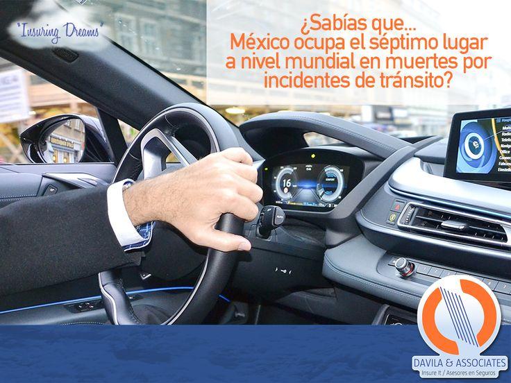 La mayoría de los accidentes son los jueves, viernes y sábados por la noche. ¡protégete! #accidentes #segurosindividual #seguros #autos #segurosdavila #mexico