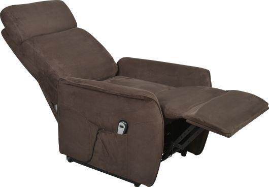 Nouveau fauteuil releveur en microfibre gauffr e gris souris moody de forme c - Comment nettoyer un fauteuil en microfibre ...