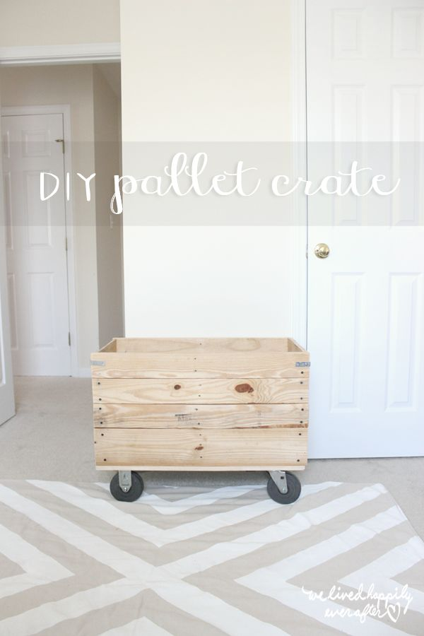 DIY Pallet Crate: My Castor Wheel Obsession