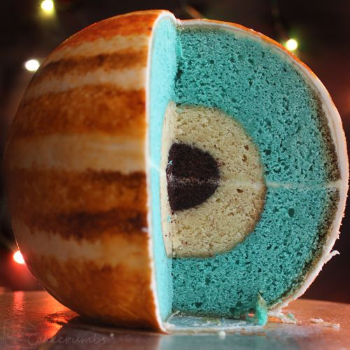 Jupiter Cake with Inner Layers and Detailed Atmosphere - My Modern Metropolis