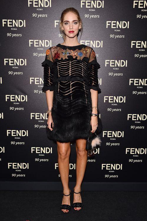 Chiara Ferragni lors du défilé Fendi à Rome
