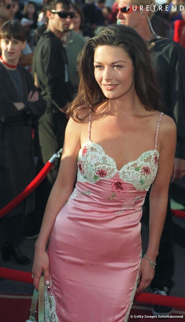 Catherine Zeta Jones in Ungaro at the MTV Movie Awards 1999