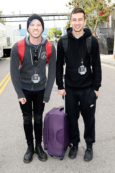 Josh Dun and Tyler Joseph of twenty one pilots - Skeleton Clique Josh is so dang cute