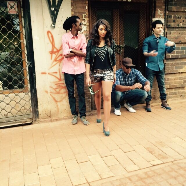 Avi and the musicians at DOE braamfontein