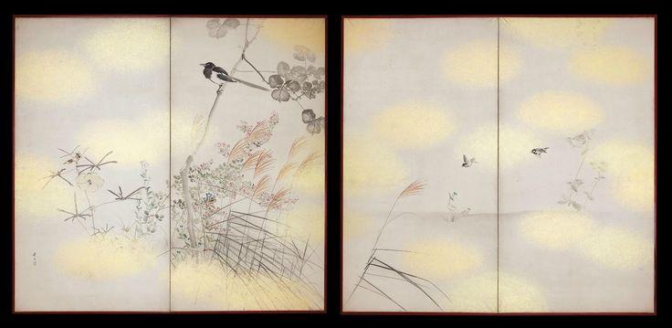 Matsumura Keibun (1779 - 1843), Birds & Flowers, Shijō School