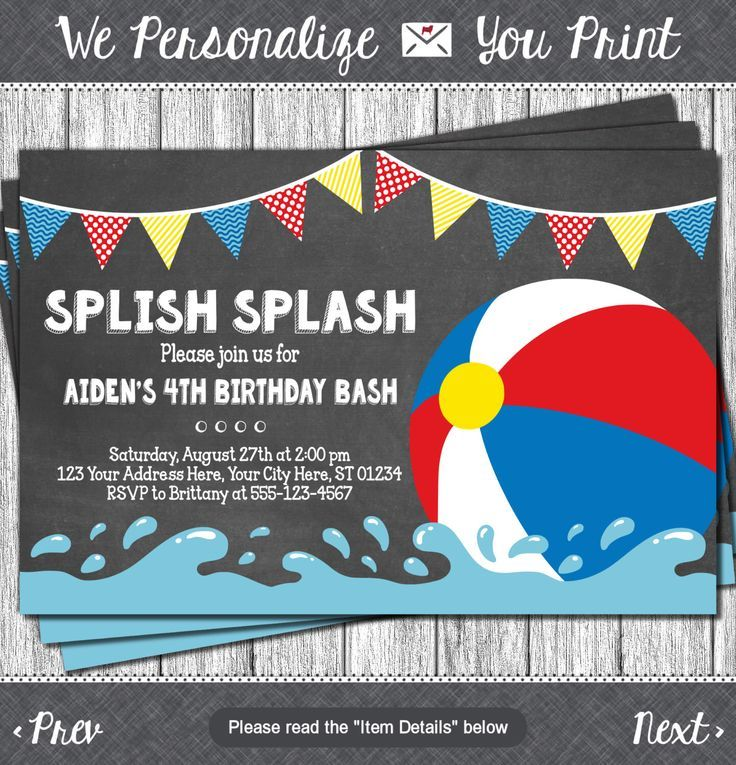The 25 best Beach ball party ideas – Beach Ball Party Invitations