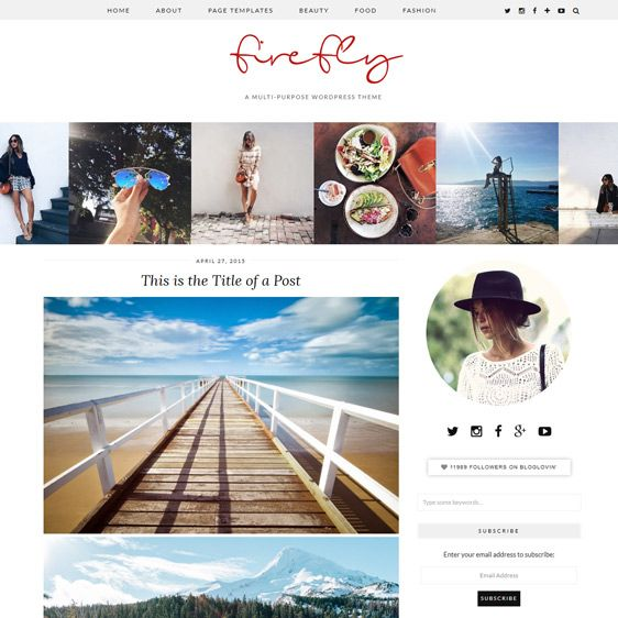 WordPress Theme: Firefly