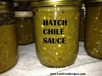 Canning Hatch Chile Sauce from Scratch