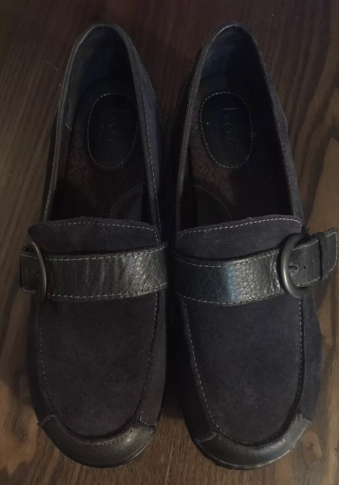 88d0292e6a0 BORN B.O.C HUFFMAN SUEDE LEATHER LOAFERS COMFORT SHOES US WOMENS SZ 9 M NAVY   fashion  clothing  shoes  accessories  womensshoes  comfortshoes (ebay  link)