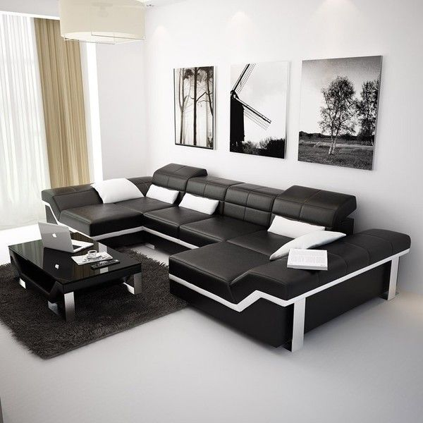 Best Black Leather Couches Ideas On Pinterest Black Leather - Brushed leather sofa 2