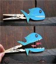 I bet I could make these into whales for teaching about Jonah.