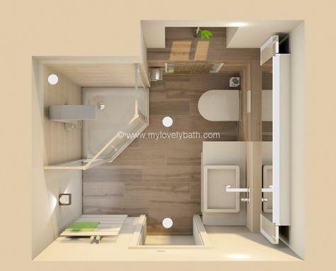 27 Best Badezimmer Images On Pinterest Bathroom Ideas, Bathroom   Grundriss  Badezimmer 9qm