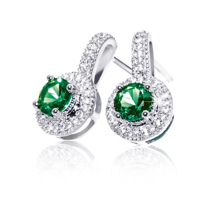 Silver, Cubic Zirconia and Gemstone Earrings R949  *Prices Valid Until 25 Dec 2013