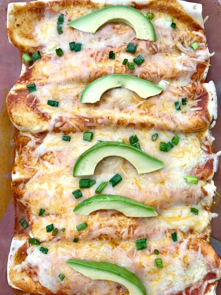 Cheesy Rotisserie Chicken Enchiladas// Kathryn's Kitchen