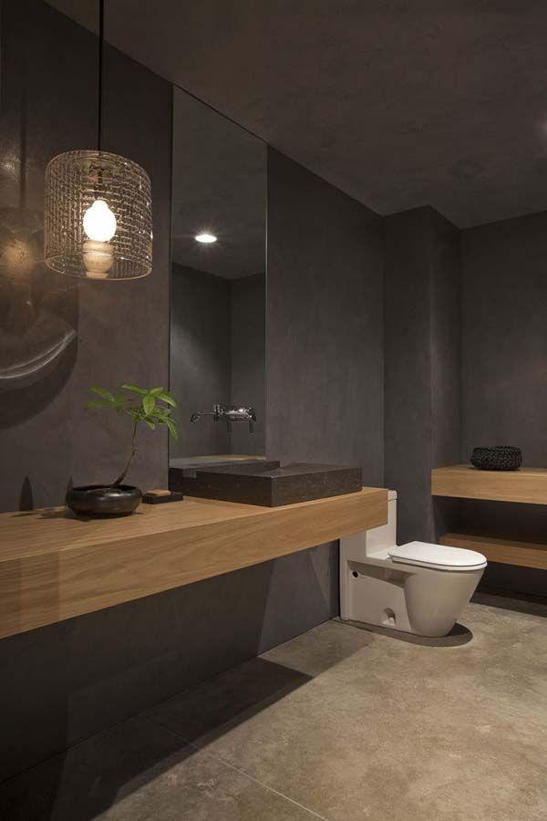 44 Absolut atemberaubende dunkle und stimmungsvolle Badezimmer