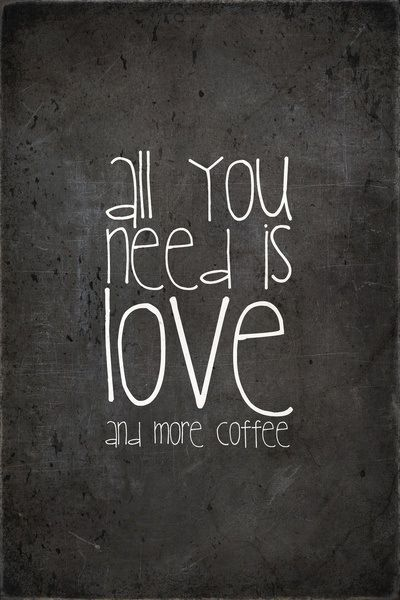 Our two favorite things. #LiveWithGusto #coffee #quote