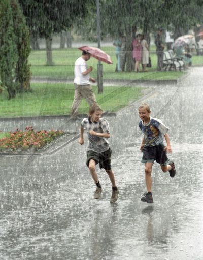 Laughter, Rain and a Good Friend.
