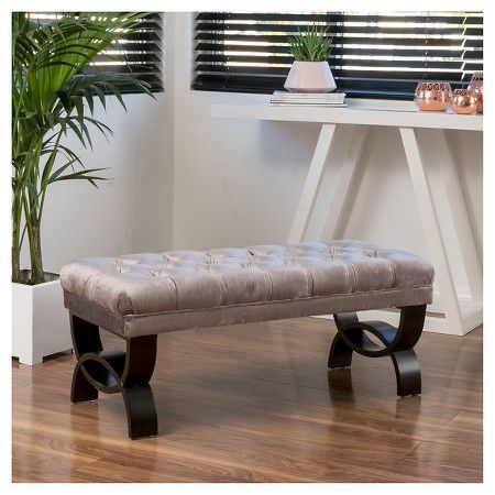 Scarlette Tufted Fabric Ottoman Bench - Christopher Knight Home : Target