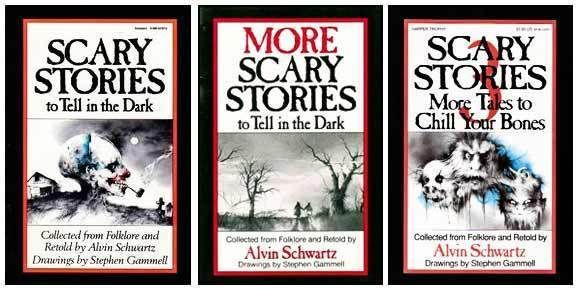 Scary Stories by Alvin Schwartz...some of the scariest stories I read as a kid!