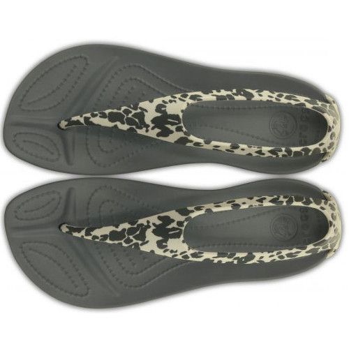 Crocs Dámské žabky Sexi Leopard Print Flip Charcoal 203218-025 | Vivantis.cz - Být sám sebou