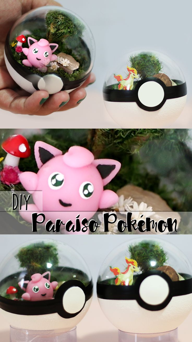 DIY | Aprenda como fazer uma pokébola super diferente: um paraíso para seu pokémon! / Pokémon paradise pokeball!