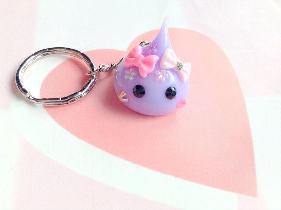 Purple Hoppe Chan Tamagotchi Charm Kawaii Keychain Cute by CreaBia