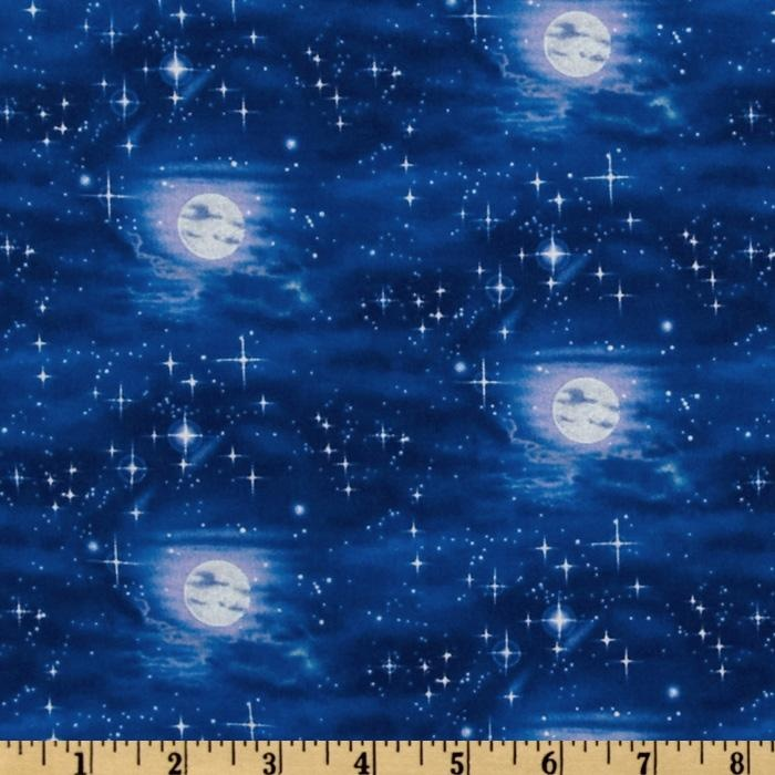 Children of the sea moon on water midnight boys room for Children of the sea fabric