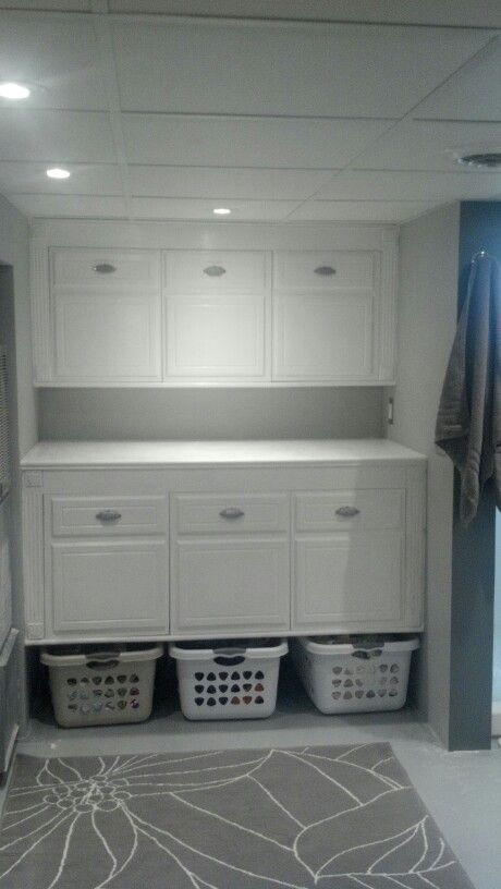Laundry organizer and folding table we built laundry - Laundry room table ideas ...