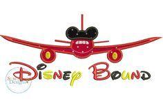 Disney Bound applique embroidery design.