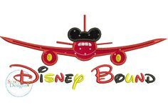 Disney Bound applique embroidery design.