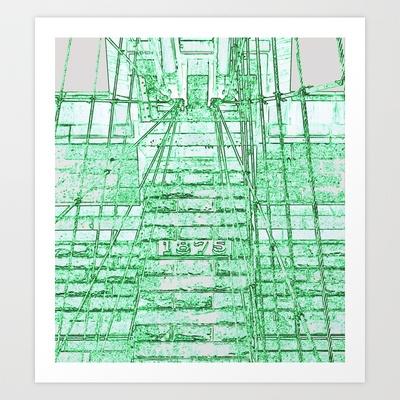 1875 green Art Print by Jaana - $16.50